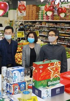 Phó Thủ tướng Vũ Đức Đam thị sát chợ hoa Tết Quảng Bá, trung tâm thương mại