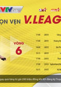 Vòng 6 V-League; Vòng 2 Hạng nhất Quốc gia tiếp tục sôi động trên VTVcab