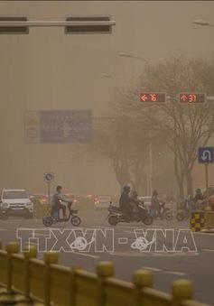 Trung Quốc tiếp tục ban bố cảnh báo vàng về bão cát