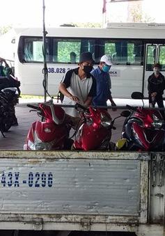 Xe máy từ Đà Nẵng muốn qua Thừa Thiên Huế sẽ được trung chuyển miễn phí
