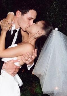 Ảnh cưới của Ariana Grande được hé lộ, đẹp như cổ tích