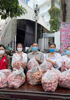 Gần 2 tấn vải thiều Bắc Giang được tiêu thụ tại Đài THVN