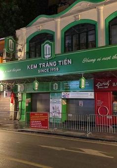 Cửa hàng kem Tràng Tiền bị phạt 15 triệu đồng vì vi phạm quy định chống dịch