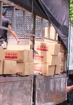 Lợi dụng luồng xanh, xe tải chở hơn 8 tấn bánh Trung thu nhập lậu