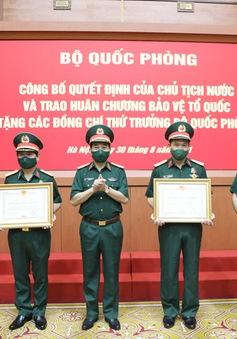 5 Thứ trưởng Bộ Quốc phòng được trao Huân chương Bảo vệ Tổ quốc