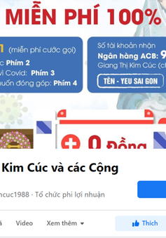 """Chủ fanpage """"Giang Kim Cúc và các Cộng Sự"""" bị phạt vì thông tin sai sự thật"""
