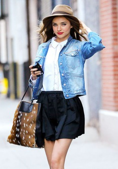 Phong cách cá tính với áo khoác jeans
