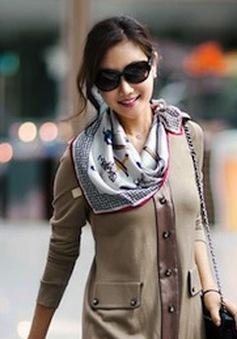 Ấm áp và dễ thương với váy len