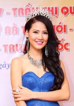 Hoa hậu Trần Thị Quỳnh lên đường thi Mrs World