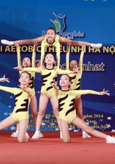 Những hình ảnh đáng yêu của các bé đêm bán kết Aerobic nhí Hà Nội