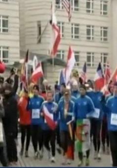 Độc đáo cuộc thi chạy giữa trời lạnh giá ở Đức