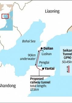 Trung Quốc xây đường hầm xuyên biển dài nhất thế giới