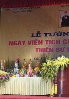 Lễ tưởng niệm ngày Đại danh y Thiền sư Tuệ Tĩnh viên tịch