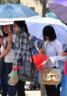 Nắng nóng khắp cả nước hai ngày thi đại học đợt 1