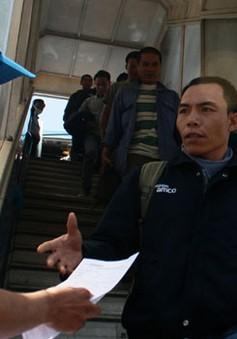Hỗ trợ lao động từ Libya về nước