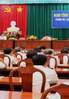 Đồng chí Lê Hồng Anh làm việc tại tỉnh Tiền Giang