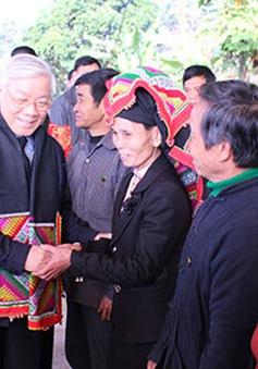 Tổng Bí thư thăm và làm việc tại Sơn La