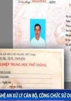 Cán bộ xã tại Nghệ An sử dụng bằng tốt nghiệp THPT giả