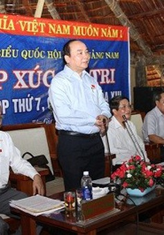 Phó Thủ tướng Nguyễn Xuân Phúc tiếp xúc cử tri Quảng Nam