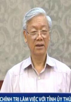 Bộ Chính trị làm việc với Tỉnh ủy Thừa Thiên Huế