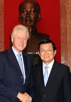 Chủ tịch nước tiếp cựu Tổng thống Mỹ Bill Clinton