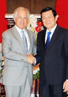 Chủ tịch nước Trương Tấn Sang tiếp Thượng nghị sĩ Hoa Kỳ Bob Corker