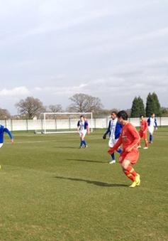 U19 Việt Nam thua ngược U19 Birmingham trong trận giao hữu cuối cùng tại Anh