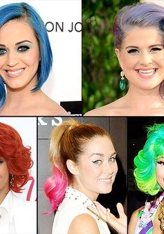 Bữa tiệc sắc màu trên tóc của sao