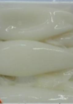 Mực tươi trắng nhờ xử lý hóa chất