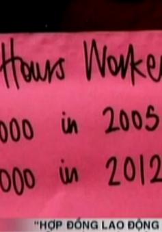 """""""Hợp đồng lao động không giờ"""" – Nỗi ám ảnh nền kinh tế Anh"""