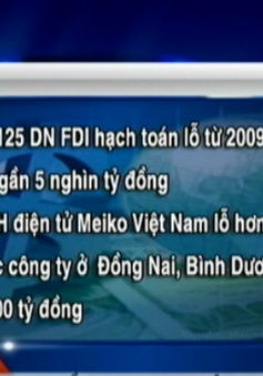 Nhiều doanh nghiệp FDI khai lỗ lớn