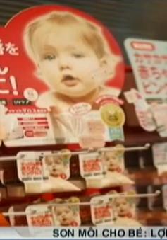 Độc hại son môi cho trẻ rửa nhiều lần không trôi màu