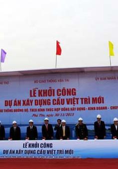 Khởi công dự án cầu Việt Trì mới qua sông Lô