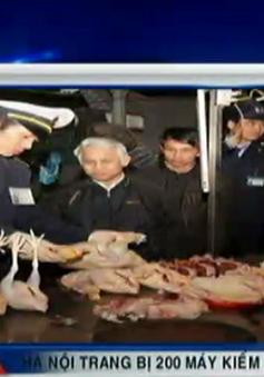 Hà Nội trang bị 200 máy kiểm tra thực phẩm cho cán bộ thú y