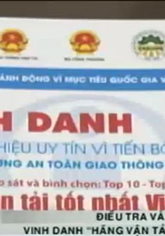 """Điều tra và xử lý chương trình vinh danh """"Hãng vận tải tốt nhất Việt Nam"""""""