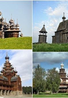 Tinh xảo kiến trúc nhà thờ gỗ ở Nga