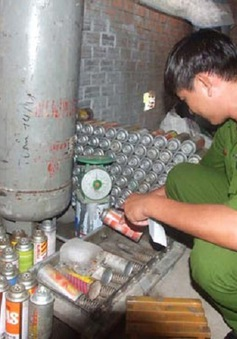 Phát hiện trạm sang chiết gas trái phép tại Ninh Bình