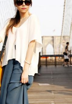 Style nổi bật với quần ống rộng