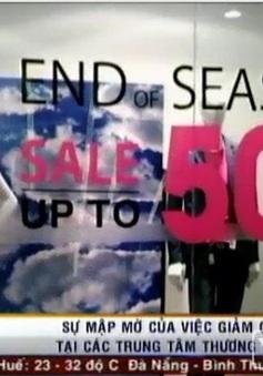 Sự mập mờ của việc giảm giá hàng hiệu ở TTTM