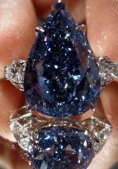Đấu giá viên kim cương màu xanh 25 triệu USD
