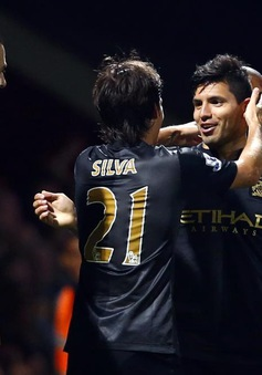 VIDEO: Aguero đưa Man City trở lại top 4