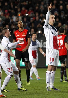 Rennes 1-3 PSG: Bộ đôi sát thủ Ibra - Cavani toả sáng (VIDEO)