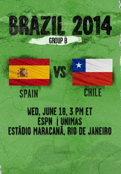 """Tây Ban Nha - Chile: Khi """"mãnh thú"""" cùng đường! (2h00 ngày 19/6, VTV3)"""