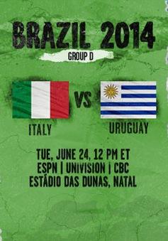 """Bảng D World Cup 2014: """"Đấu trường sinh tử"""""""