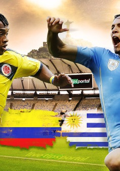 "Colombia - Uruguay: Khi ""La Celeste"" không còn Suaruaz (3h00 ngày 29/6, VTV3)"