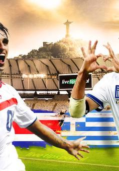 """Costa Rica - Hy Lạp: """"Ngựa ô"""" tung vó! (3h00, ngày 30/6, VTV3)"""