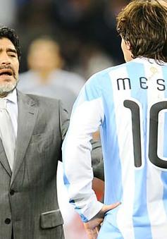 Huyền thoại Maradona động viên Messi trước trận chung kết World Cup