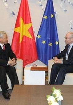 Điện cảm ơn của Tổng Bí thư gửi Chủ tịch EC và Ủy ban châu Âu