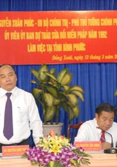 Phó Thủ tướng Nguyễn Xuân Phúc làm việc tại Bình Phước