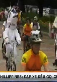 Đạp xe kêu gọi cứu trái đất tại Philippines